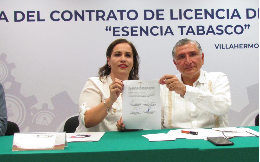 """Firma de Contrato de Licencia de  Uso de Marca """"Esencia Tabasco"""""""