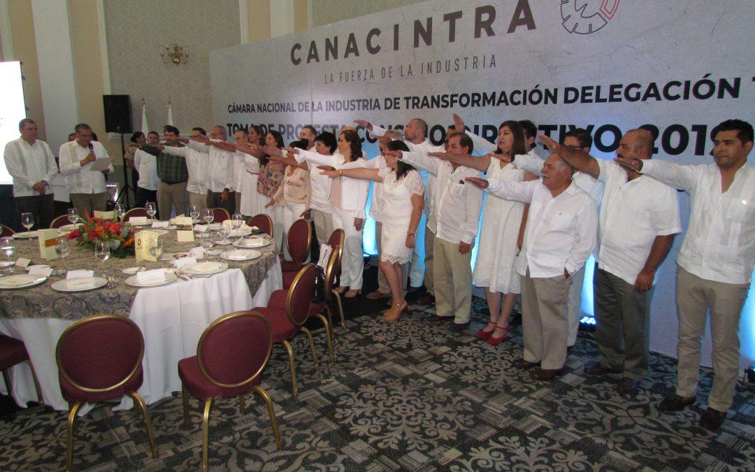 Rinde protesta nuevo Consejo Directivo de CANACINTRA Tabasco
