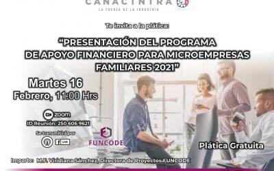 Presentación del programa de desarrollo financiero para microempresas familiares 2021