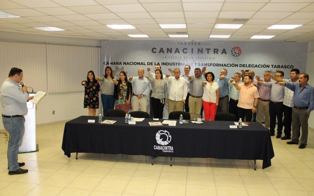 Reeligen a Morales Ariza como presidente de CANACINTRA Tabasco